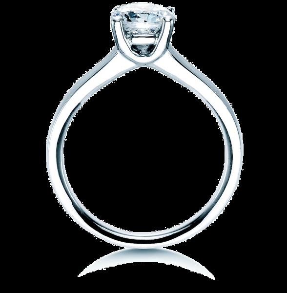 Ring Weißgold, 4er-Krappenfassung