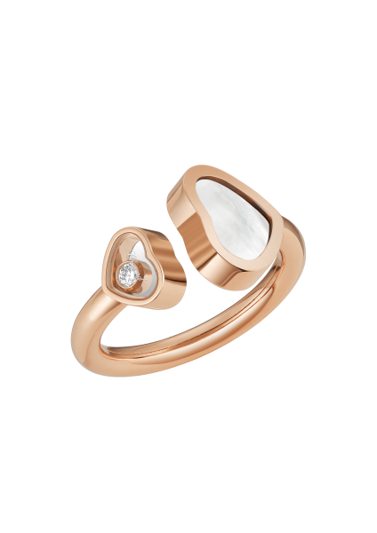 """Happy Hearts"" 750er-Roségold Ring"