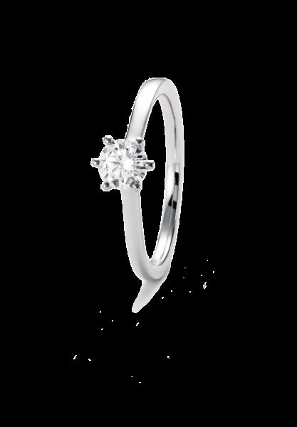 Ring Weißgold, 6er-Krappenfassung