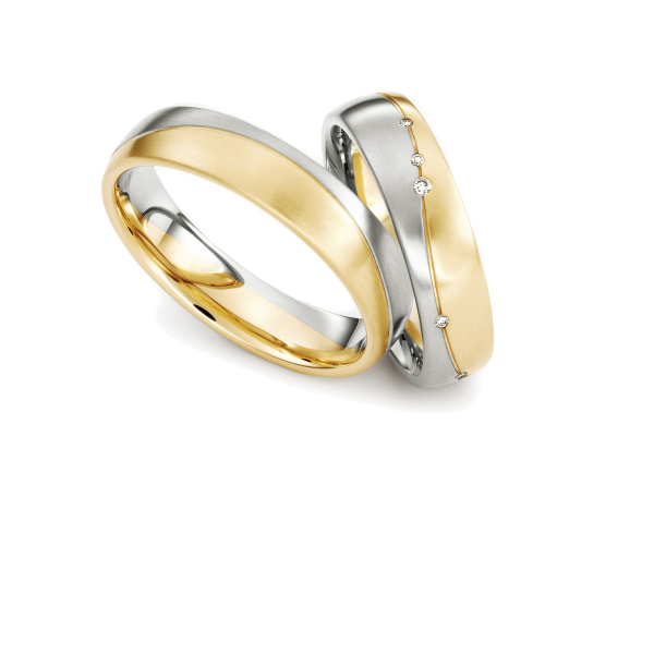 Trauringe Weißgold/Gelbgold