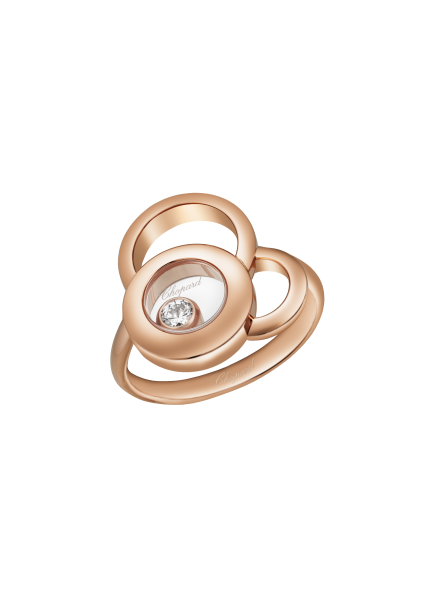 """Happy Dreams"" 750er-Roségold Ring mit Diamant"