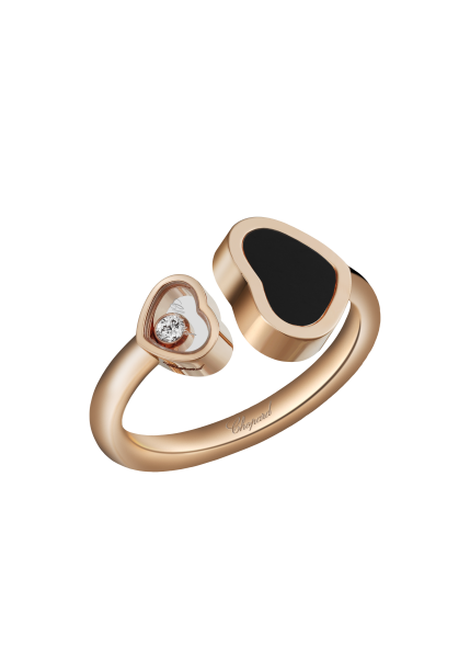 """Happy Hearts"" 750-Roségold Ring"