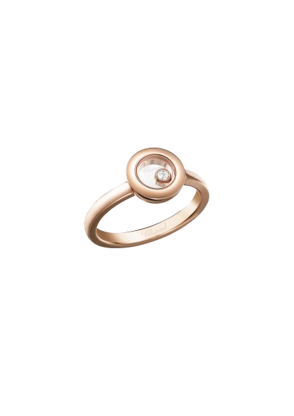 """Happy Diamonds"" 750er-Roségold Ring mit Diamant"